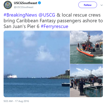 Courtesy of USCGSouthEast Twitter