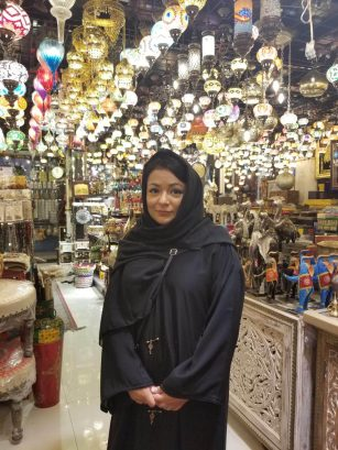 I couldn't leave the Middle East without an abaya!